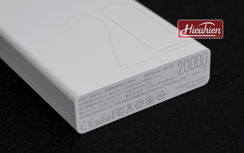 pin sac du phong 20000mah remax rpl 58