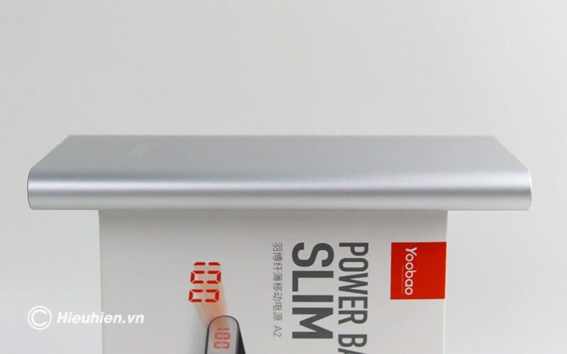 Pin sạc dự phòng 20000mAh Yoobao A2 siêu mỏng - cạnh bên