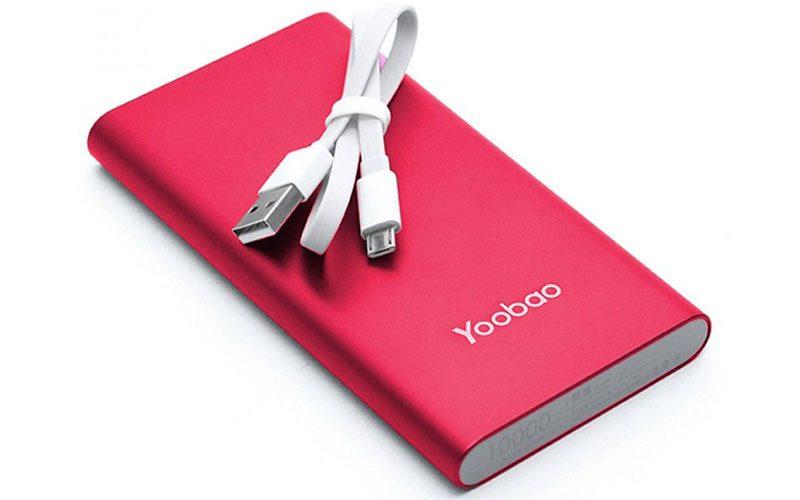 pin sạc dự phòng chính hãng yoobao a1 10000mah siêu mỏng - cáp sạc