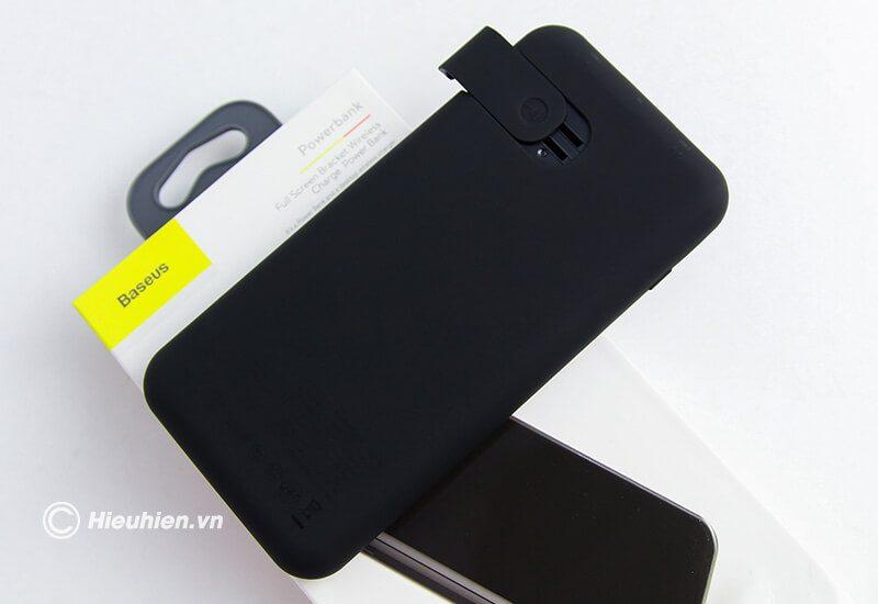Pin Sạc Dự Phòng Không Dây 8000mAh Q2 Baseus LCD Qi Wireless Charger - mặt sau
