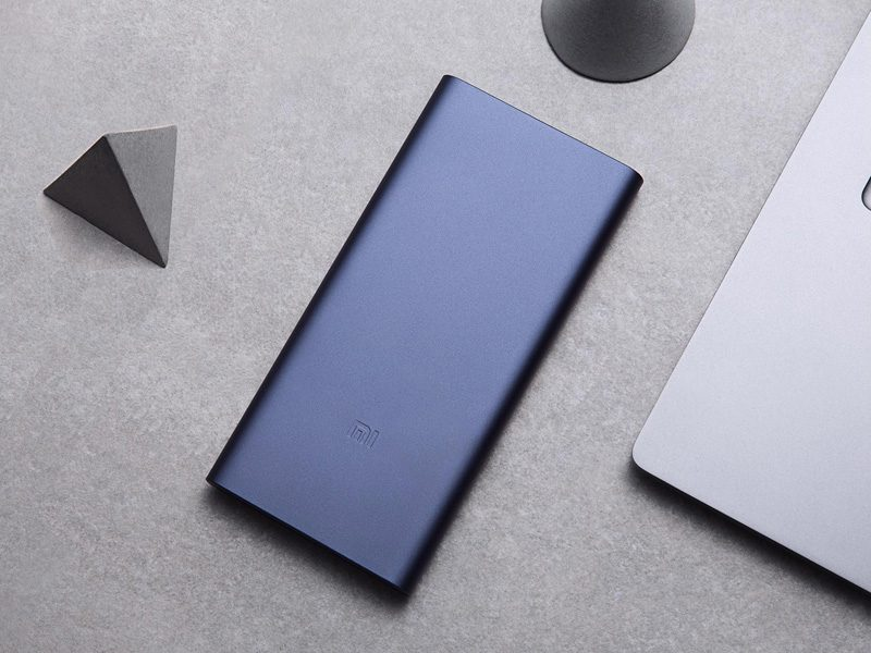 Pin sạc dự phòng Xiaomi 10000mAh Gen 2S 2018 giá rẻ, chính hãng - màu xanh mặt trước