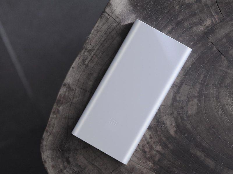 Pin sạc dự phòng Xiaomi 10000mAh Gen 2S 2018 giá rẻ, chính hãng - bạc mặt trước