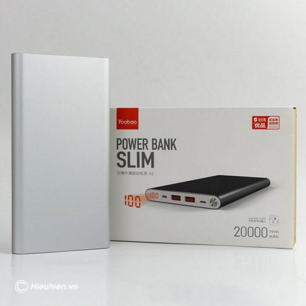 Pin sạc dự phòng 20000mAh Yoobao A2 siêu mỏng 01