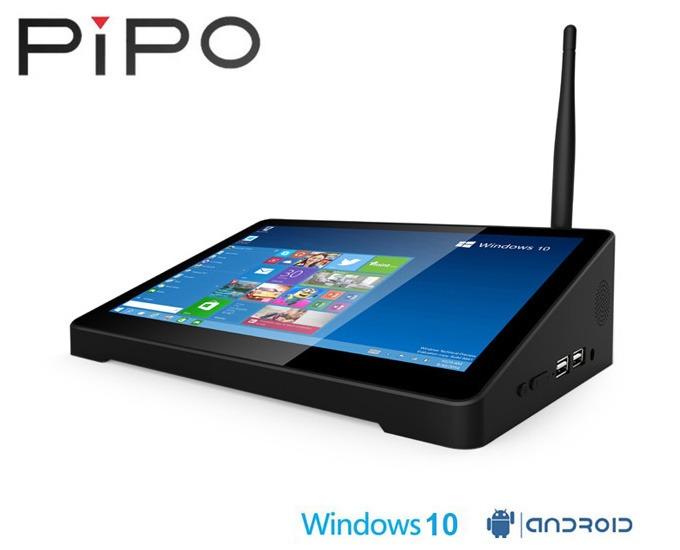 pipo x9 android tv box, windows mini pc kiem may tinh bang man hinh 8.9 inch