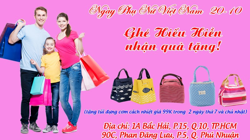 Quà tặng đặc biệt dành cho Khách hàng trong ngày Phụ nữ Việt Nam 20 tháng 10