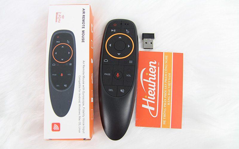 remote tìm kiếm giọng nói a2 - voice remote cho android tv box - mặt trên