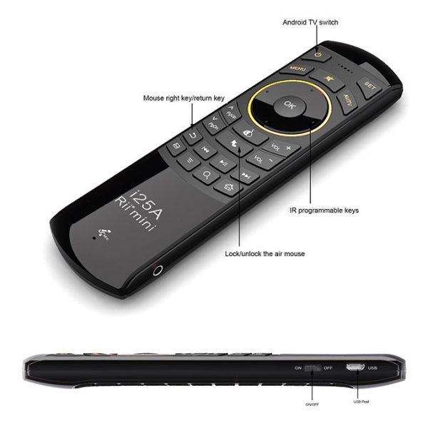 rii i25a - chuột bay tìm kiếm bằng giọng nói cho android tv box chính hãng - hình 03