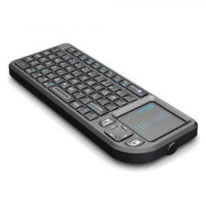 rii mini x1 chuột touchpad + bàn phím không dây cho android tv box - hình 02