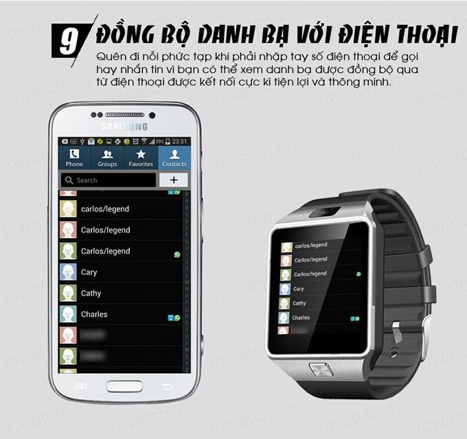 dong ho thong minh smartwatch inwatch c - dong bo danh ba voi dien thoai