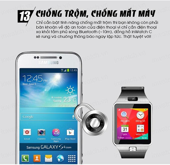 dong ho thong minh smartwatch inwatch c - chong trom, chong mat may
