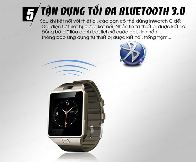 dong ho thong minh smartwatch inwatch c - ket noi bluetooth