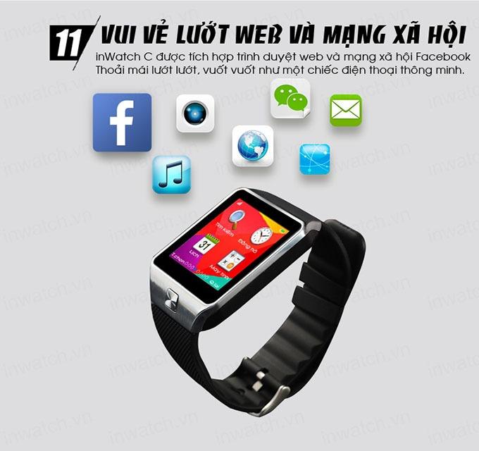 dong ho thong minh smartwatch inwatch c - luot web, mang xa hoi
