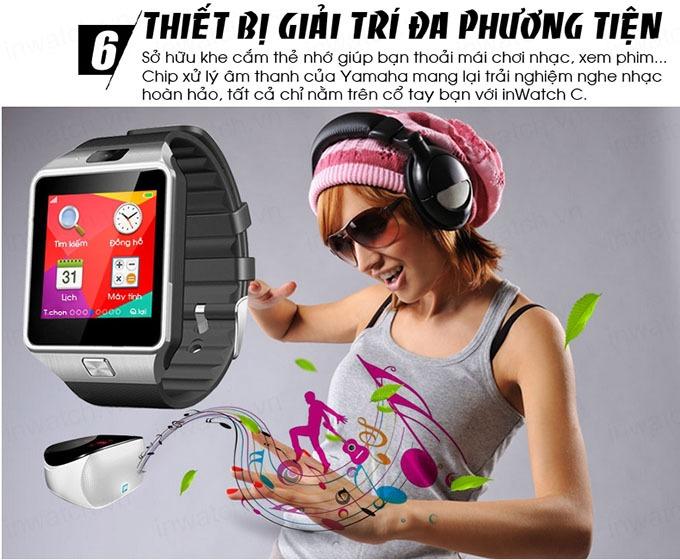 dong ho thong minh smartwatch inwatch c - giai tri da phuong tien