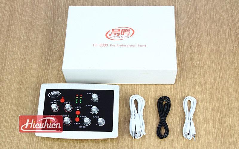 sound card hf 5000 pro chuyen dung cho thu am hat karaoke livestream