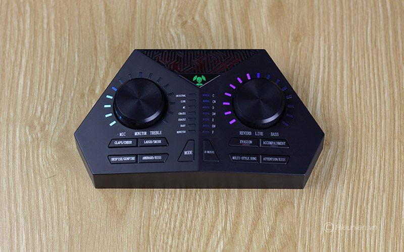 sound card max 730 - hát karaoke live stream, có auto-tune, pin sạc - phím