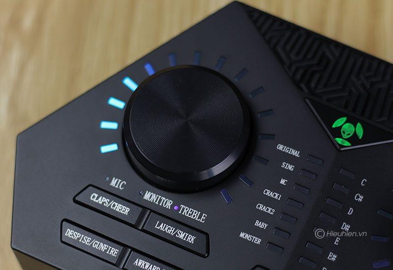 sound card max 730 - hát karaoke live stream, có auto-tune, pin sạc - nút vặn