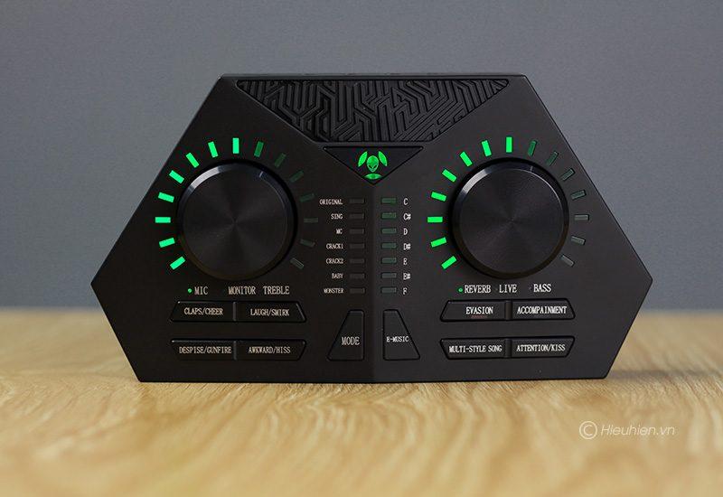 sound card max 730 - hát karaoke live stream, có auto-tune, pin sạc - mặt trước