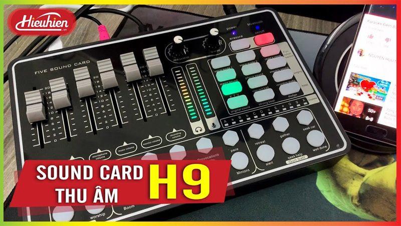 Sound Card MKAI H9 - Hát Karaoke Livestream có Bluetooth, AutoTune - điều chỉnh đa dạng