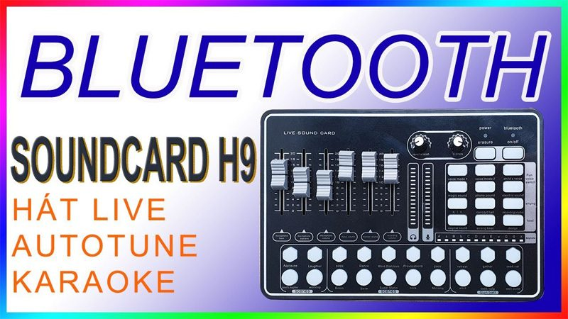 Sound Card MKAI H9 - Hát Karaoke Livestream có Bluetooth, AutoTune - chỉnh âm hay