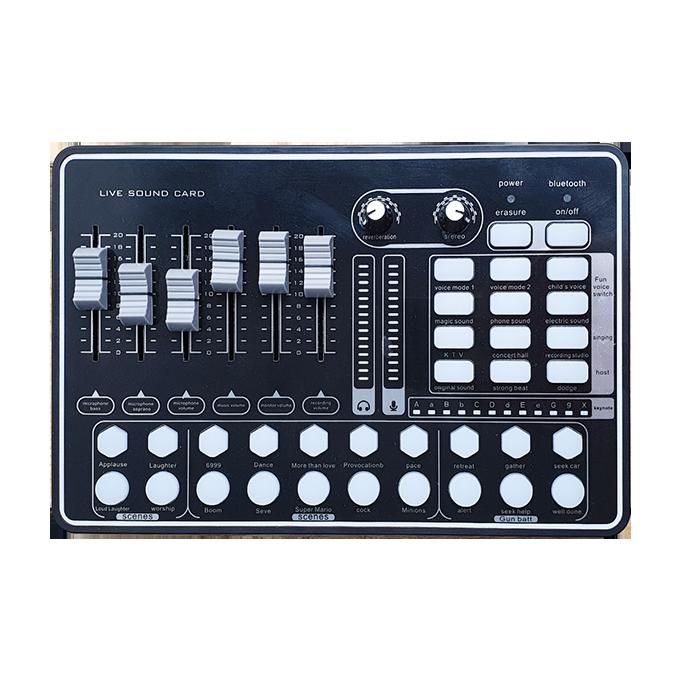 Sound Card MKAI H9 - Hát Karaoke Livestream có Bluetooth, AutoTune - phím chức năng