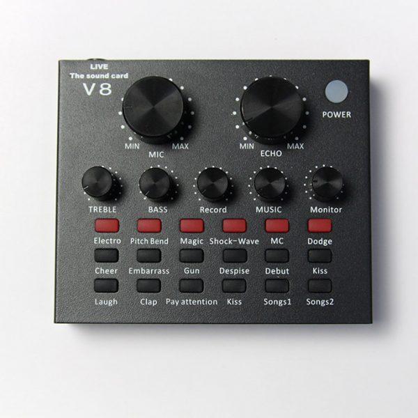 Sound Card Thu Âm V8, Card Âm Thanh Hát Karaoke, Live Stream 02