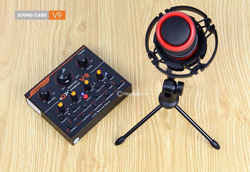 sound card thu âm v9 aqta bản tiếng anh có autotune, hát live stream, karaoke cực hay - micro pc-k320