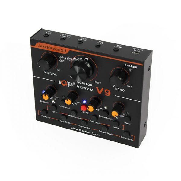 Sound card thu âm V9 AQTA bản tiếng Anh có Autotune, Hát Live Stream, Karaoke cực hay 04