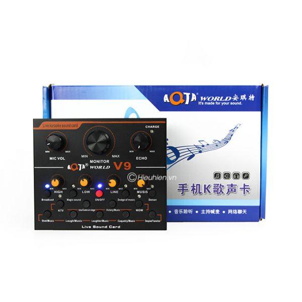 Sound card thu âm V9 AQTA bản tiếng Anh có Autotune, Hát Live Stream, Karaoke cực hay 05