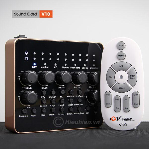 Sound Card V10 - Thu âm hát live stream, hát karaoke cực hay 05