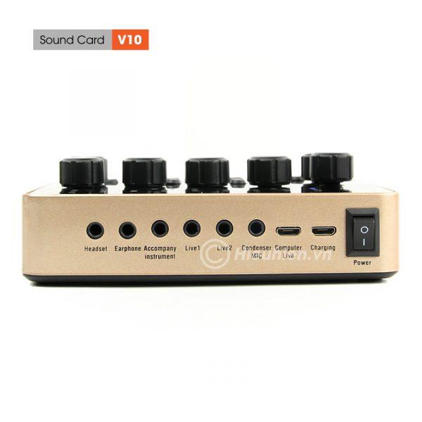 Sound Card V10 - Thu âm hát live stream, hát karaoke cực hay 06