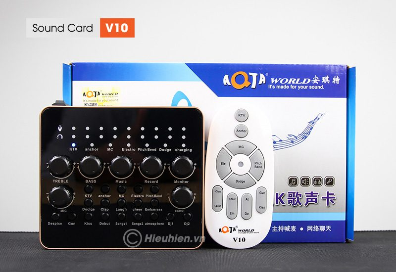 sound card v10 - thu âm hát live stream, hát karaoke cực hay - bộ sản phẩm