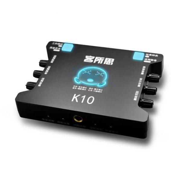 Sound Card XOX K10 chuyên dùng hát karaoke, thu âm, hát livestream 0