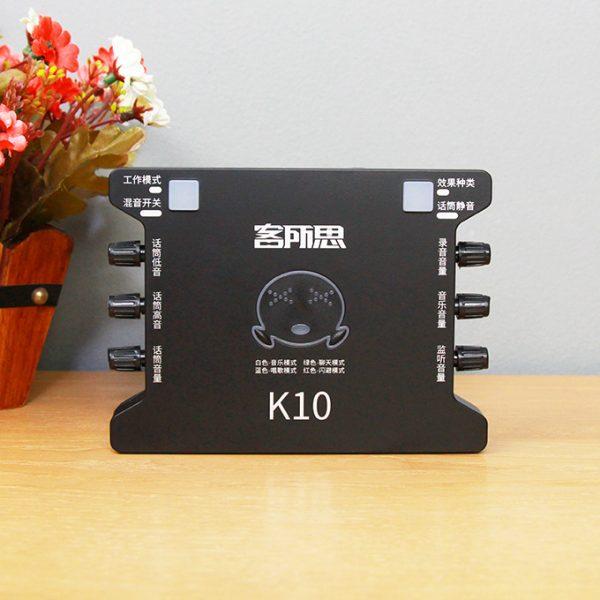 Sound Card XOX K10 chuyên dùng hát karaoke, thu âm, hát livestream 01