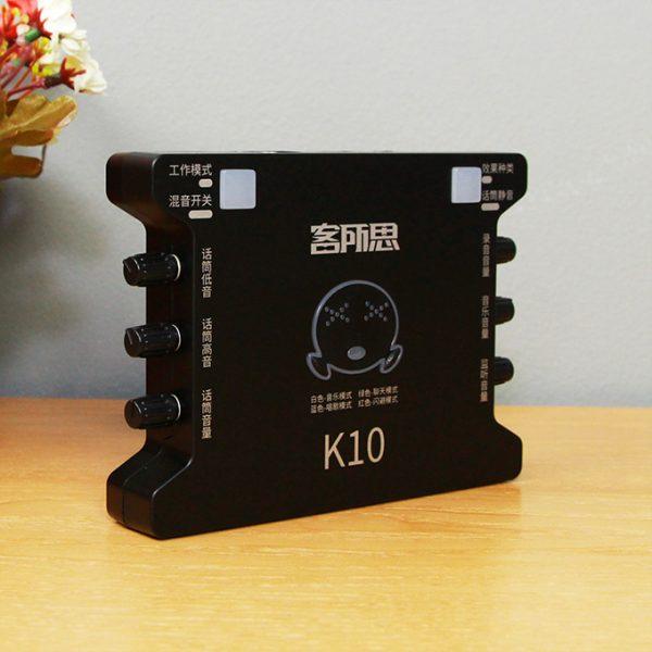 Sound Card XOX K10 chuyên dùng hát karaoke, thu âm, hát livestream 02
