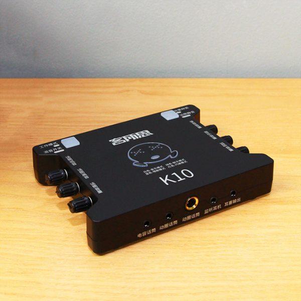 Sound Card XOX K10 chuyên dùng hát karaoke, thu âm, hát livestream 03