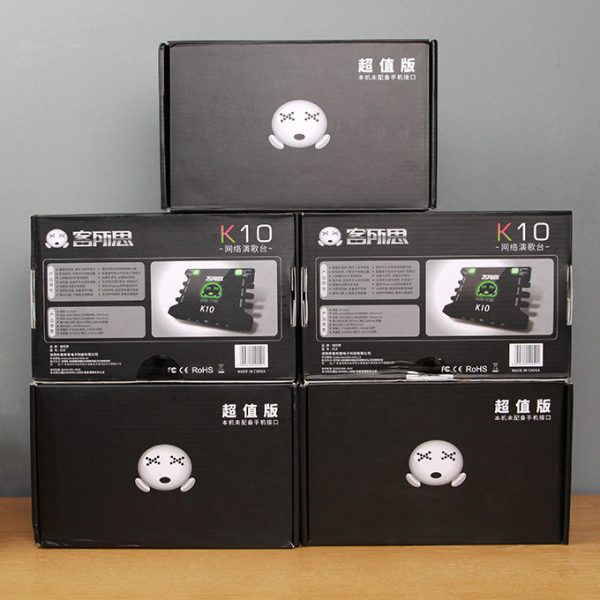 Sound Card XOX K10 chuyên dùng hát karaoke, thu âm, hát livestream 04