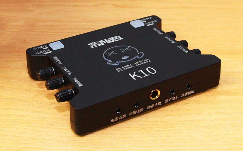 sound card xox k10 chuyên dùng hát karaoke, thu âm, hát livestream - cổng ra