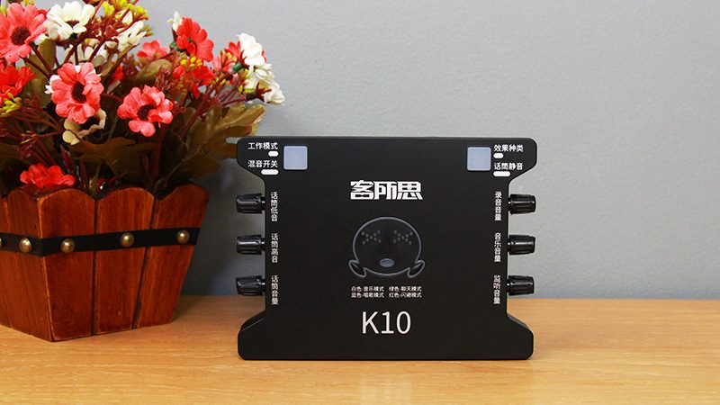 sound card xox k10 chuyên dùng hát karaoke, thu âm, hát livestream - logo