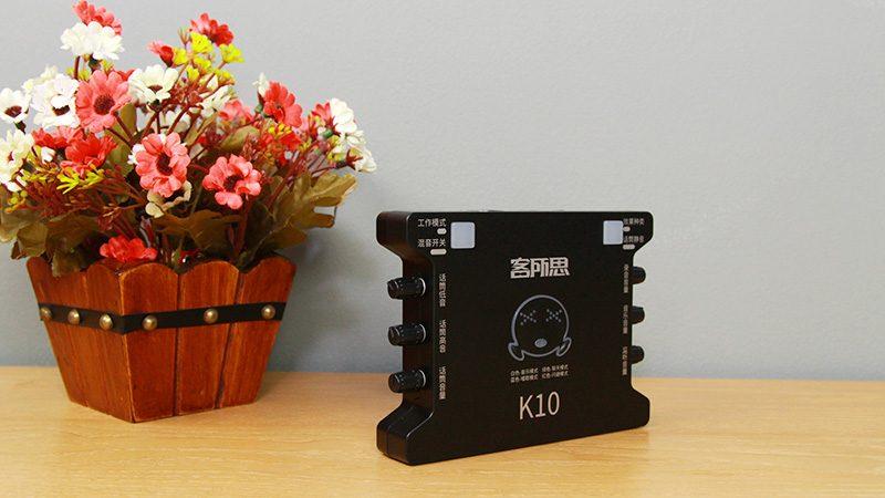 sound card xox k10 chuyên dùng hát karaoke, thu âm, hát livestream - phím