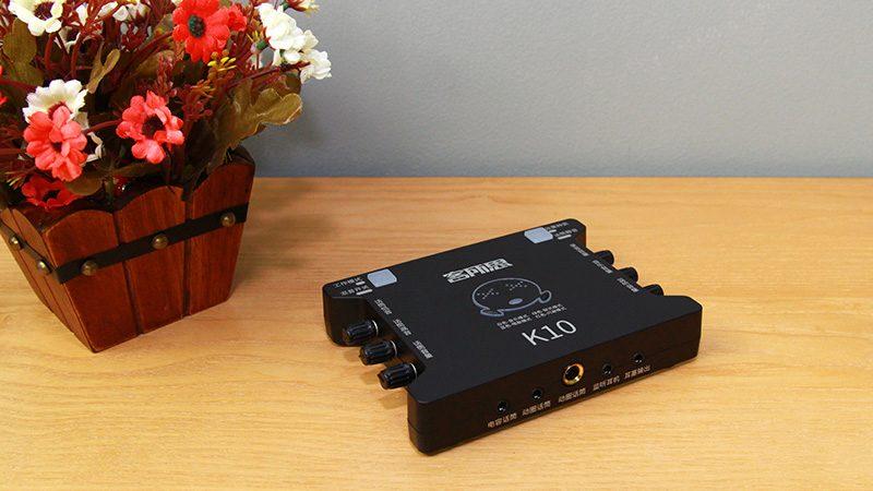 sound card xox k10 chuyên dùng hát karaoke, thu âm, hát livestream - mặt trên