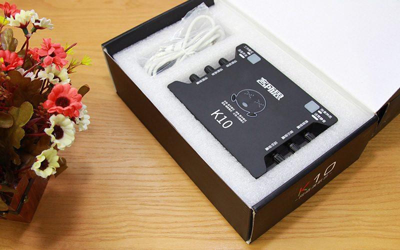 sound card xox k10 chuyên dùng hát karaoke, thu âm, hát livestream - hộp