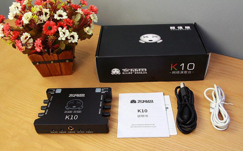 sound card xox k10 chuyên dùng hát karaoke, thu âm, hát livestream - phụ kiện