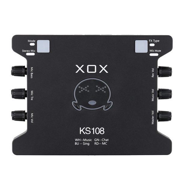 Sound Card XOX KS108 chuyên dùng cho thu âm, hát karaoke,Livestream 0