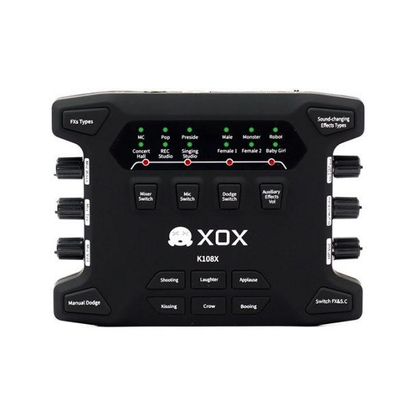 Sound Card XOX K108X 2018 chuyên thu âm, hát karaoke, Livestream