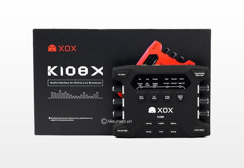 sound card xox k108x 2018 chuyên thu âm, hát karaoke, livestream - hộp