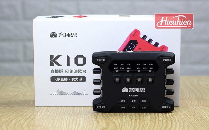 sound card xox k10x 2018 phiên bản mới chuyên dùng karaoke livestream - hộp