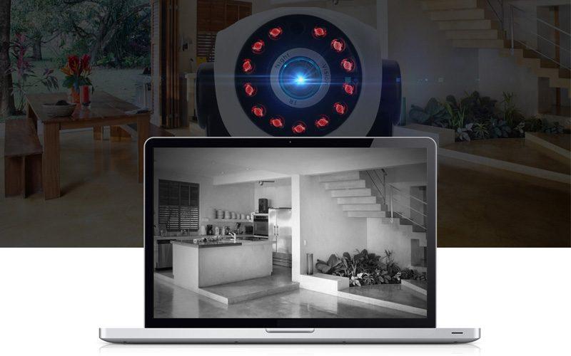 sricam sp017 - camera ip wifi thông minh, hỗ trợ thẻ nhớ 128gb - ban đêm