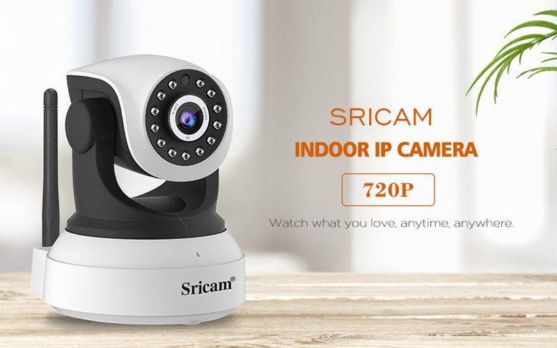 sricam sp017 - camera ip wifi thông minh, hỗ trợ thẻ nhớ 128gb - đèn led