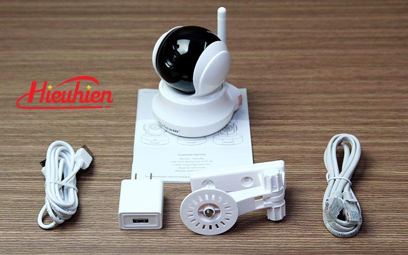 sricam sp020 - camera ip wifi thông minh, hỗ trợ thẻ nhớ 128gb - phụ kiện