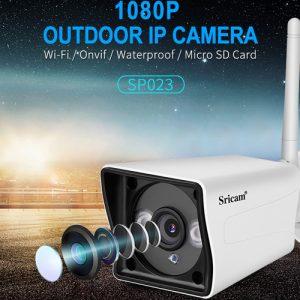 sricam sp023 1080p - camera ip wifi quan sát ngoài trời, chống nước - sắc nét